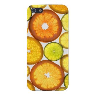 Caja anaranjada de la fruta de la cal del limón iPhone 5 carcasas