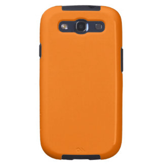 Caja anaranjada de la galaxia S de Samsung Samsung Galaxy S3 Cárcasas