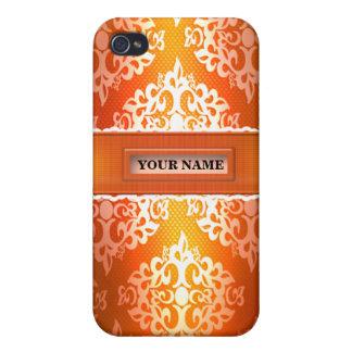 Caja anaranjada de la mota de Iphone 4/4S del dama iPhone 4 Carcasas