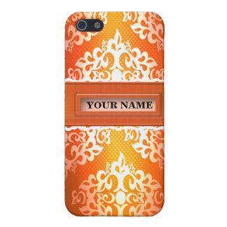 Caja anaranjada de la mota de Iphone 4/4S del iPhone 5 Carcasa