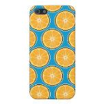 Caja anaranjada de la mota del arte del pixel iPhone 5 cobertura