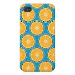 Caja anaranjada de la mota del arte del pixel iPhone 4 cárcasas