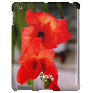 Caja anaranjada de las Flores-iPad del gladiolo