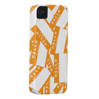 Caja (anaranjada) de marfil del iPhone de Merhaba Funda Para iPhone 4 De Case-Mate