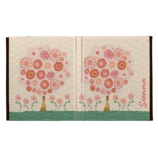 Caja anaranjada del folio del árbol IPAD Caseable