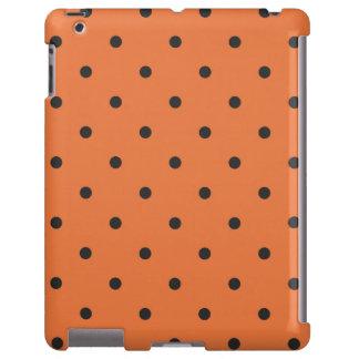 caja anaranjada del iPad 2 3 4 del lunar del estil