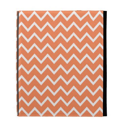 Caja anaranjada del iPad de Chevron de la