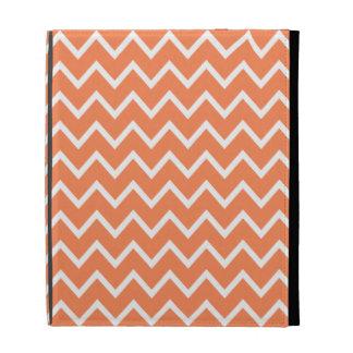 Caja anaranjada del iPad de Chevron de la nectarin