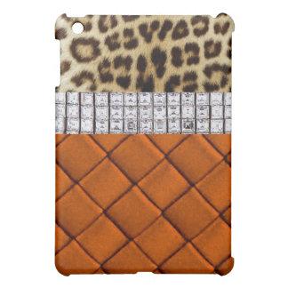 Caja anaranjada del iPad del diamante atractivo de