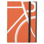 Caja anaranjada del iPad del inconformista del amo