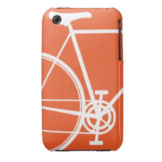 Caja anaranjada del iPhone 3 de la bicicleta iPhone 3 Case-Mate Protector