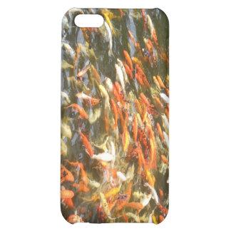 Caja anaranjada del iPhone 4 de Coi Koi de los pes