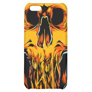 Caja anaranjada del iPhone 4 del cráneo del zombi