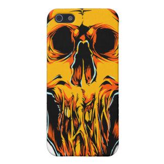 Caja anaranjada del iPhone 4 del cráneo del zombi iPhone 5 Carcasa