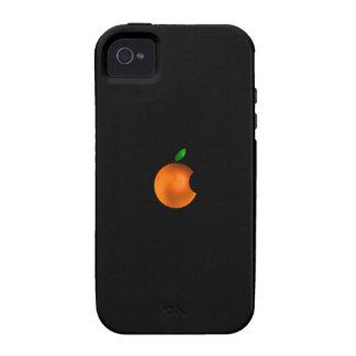 caja anaranjada del iphone 4 del logotipo vibe iPhone 4 carcasa