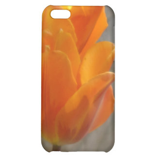 Caja anaranjada del iPhone 4G de los tulipanes
