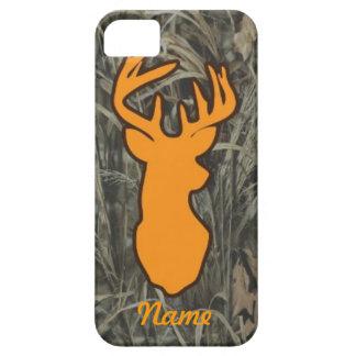 Caja anaranjada del iPhone de Camo de la cabeza de iPhone 5 Case-Mate Coberturas