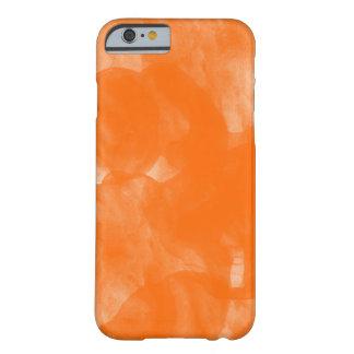 caja anaranjada del iphone de la pintura del color