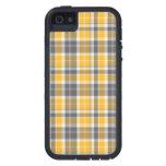 Caja anaranjada del iPhone del tartán iPhone 5 Case-Mate Carcasa