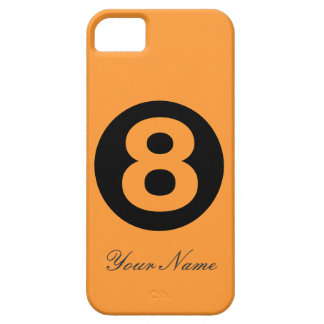 Caja anaranjada del número ocho iPhone 5 carcasas
