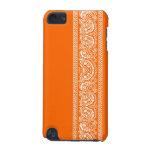 Caja anaranjada del tacto de iPod del pañuelo de P