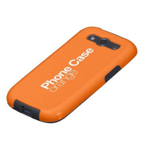Caja anaranjada del teléfono para la galaxia S III Galaxy S3 Coberturas