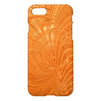 Caja anaranjada elegante del arte abstracto funda para iPhone 7