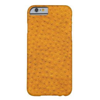 Caja anaranjada exótica del iPhone 6 del cuero de Funda De iPhone 6 Barely There