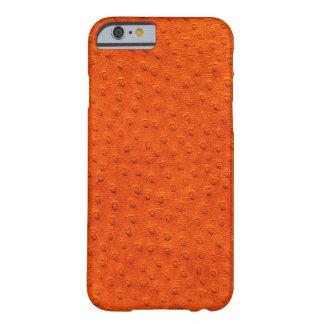 Caja anaranjada exótica del iPhone 6 del cuero de Funda Para iPhone 6 Barely There