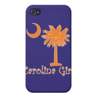 Caja anaranjada/púrpura del iPhone 4 del chica de  iPhone 4/4S Funda
