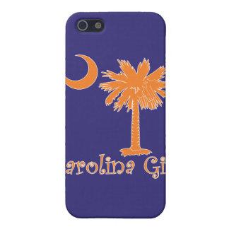 Caja anaranjada/púrpura del iPhone 4 del chica de  iPhone 5 Protector