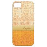 Caja anaranjada reluciente femenina del iPhone 5 d iPhone 5 Protectores