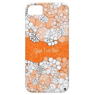 Caja anaranjada retra del iPhone 5 de la burbuja Funda Para iPhone SE/5/5s