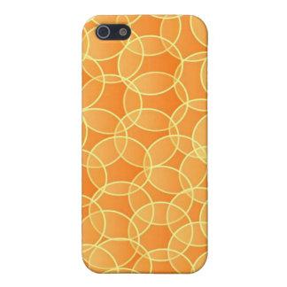 Caja anaranjada y amarilla de IPhone iPhone 5 Carcasas