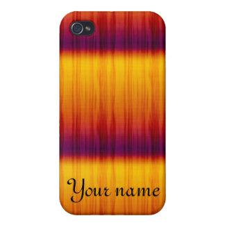 Caja anaranjada y amarilla de la mota del iPhone 4 iPhone 4/4S Carcasa