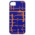 Caja anaranjada y azul de IPhone 5 iPhone 5 Case-Mate Coberturas