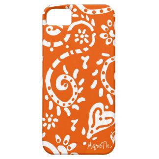 Caja anaranjada y blanca del iPhone 5 de la pipa Funda Para iPhone SE/5/5s