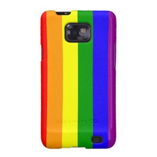 Caja androide 2 de la bandera del arco iris samsung galaxy s2 carcasa
