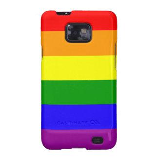 Caja androide de la bandera del arco iris galaxy SII carcasas