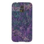 Caja androide del teléfono del batik púrpura y fundas de galaxy s5