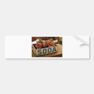 Caja antigua de la soda pegatina para auto