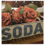 Caja antigua de la soda servilleta