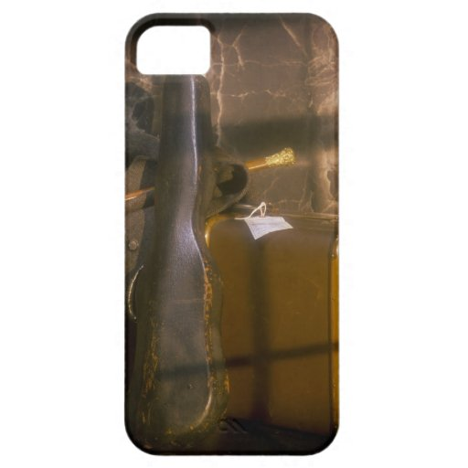 Caja antigua del equipaje y del violín funda para iPhone SE/5/5s