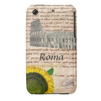 Caja antigua del girasol de Roma iPhone 3 Case-Mate Cárcasas