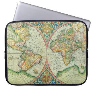 Caja antigua del ordenador portátil del mapa fundas ordendadores