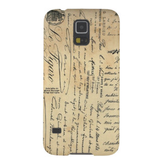 Caja antigua del teléfono de la escritura funda de galaxy s5
