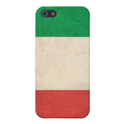Caja apenada bandera del iPhone 4 de Italia iPhone 5 Fundas