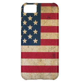 Caja apenada de la bandera americana carcasa iPhone 5C