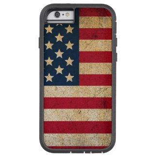 Caja apenada de la bandera americana funda de iPhone 6 tough xtreme