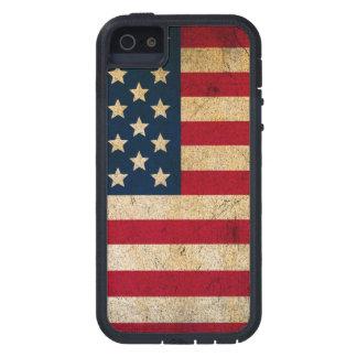 Caja apenada de la bandera americana iPhone 5 coberturas